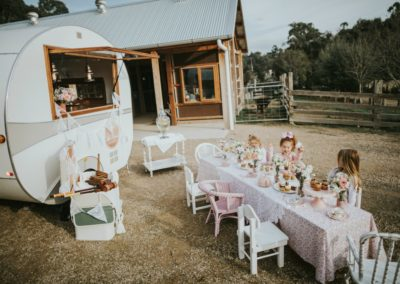little mouse teahouse event caravan for weddings, engagements and kids birthdays in melbourne