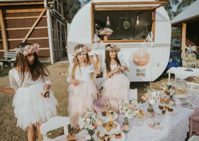 little mouse teahouse vintage event caravan melbourne kids tea parties