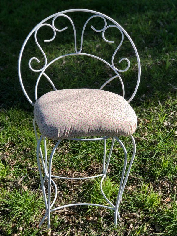 vintage chairs for hire cute white with floral
